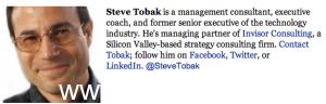 Nhà tiếp thị lãnh đạo doanh nghiệp nổi tiếng Steve-Tobak