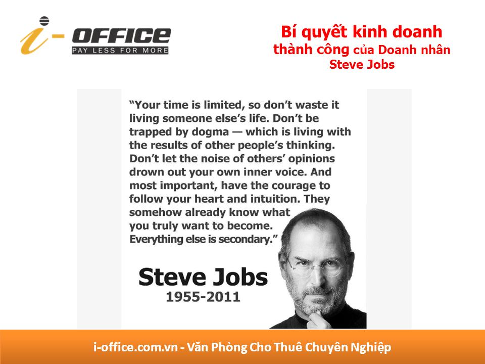 bí quyết kinh doanh thành công của  Steve Jobs